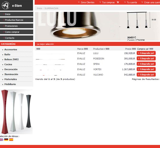 E-commerce Muebles de Diseño